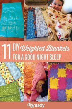 Try your hand at these weighted blankets DIY projects and ideas, and find good use of your time and money! RELATED: How to Make a Mermaid Tail Blanket In this article: DIY Weighted Blanket Tutorial… Easy Sewing Projects, Fun Projects, Sewing Hacks, Sewing Crafts, Sewing Ideas, Sewing Diy, Fabric Crafts, Weighted Blanket Tutorial, Weighted Vest