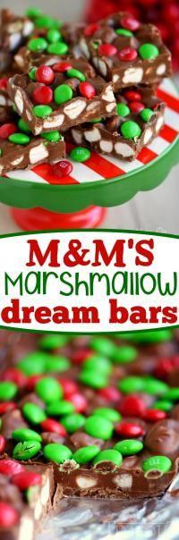 M&M's Marshmallow Dream Bars on MyRecipeMagic.com No bake, five ingredients, five minutes. Easy!