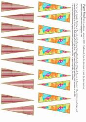 graphic about Printable Paper Bead Templates named Paper Bead Template Absolutely free Printable Graph Pedia