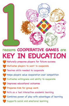 #cooperative #learning 10 Reasons Cooperative Games are Key in Education [read more at www.cooperativegames.com]