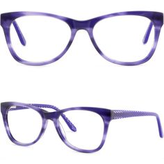 9817be03a33 Details about Women Acetate Plastic Frame Comfortable Spring Hinge  Prescription Glasses Purple