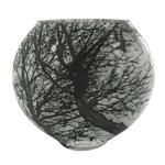Etched Black Tree Fish Bowl by Mary-Melinda Wellsandt