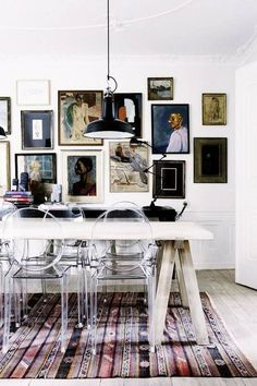 Beautiful gallery wall, gorgeous room, and great tips.