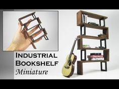 Have you seen these IKEA dollhouse furniture? - IKEA Hackers Cath's channel specializes in videos showing how to build dollhouse furniture and accessories. And of course, dolls need IKEA furniture in their homes too. Modern Bookshelf, Industrial Bookshelf, Bookshelves, Ladder Bookshelf, Modern Industrial, Barbie Furniture, Ikea Furniture, Furniture Makeover, Furniture Stores
