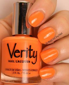 Verity Nail Lacquer Creamy Peaches Be Hy And Polish Swatch Peach