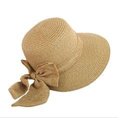 50a7750b1b3 2018 Women s Sun Hat Big Bow Wide Brim Floppy Summer Hats For Women Beach  Panama Straw Bucket Hat Sun Protection Visor Femme Cap
