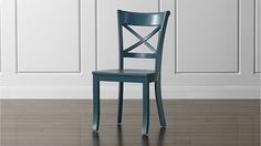 Vintner Peacock Wood Dining Chair | Crate and Barrel