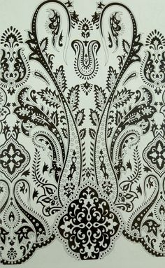 Retro Pattern, Pattern Art, Print Patterns, Paisley Art, Paisley Design, Embroidery Suits Design, Gold Embroidery, Motif Design, Fabric Design
