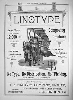 on Linotype: the Film Letterpress Machine, Letterpress Printing, Printing And Binding, Printing Press, Fleet Street, Lost Art, Handmade Books, Type Setting, Life Is Beautiful