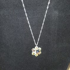 """Swarovski Crystal Ab Snowflake Silver Necklace New Swarovski Crystal Ab Snowflake Silver Plated Necklace New 18/19"""" Comes with an 18"""" Silver plated twisted Singapore chain with a one inch extender chain, which gives you the option to adjust to that perfect length. Leaded crystal glass finish. Jewelry Necklaces"""