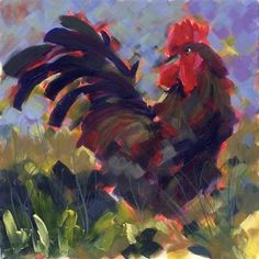 """""""Rooster Royale"""" - Original Fine Art for Sale - © Pamela Gatens"""