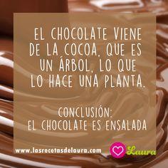 Chistes - El chocolate es ensalada