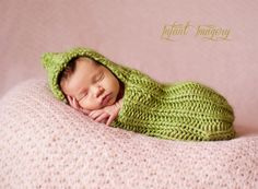 Garden Cocoon Knitting Pattern - Average Newborn Size - Instant Digital Download via Etsy