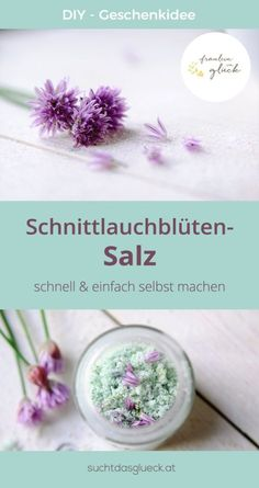 chive flower salt quickly and easily homemade - gift idea - . - Rezepte -DIY chive flower salt quickly and easily homemade - gift idea - . Kitchen Gifts, Diy Kitchen, Kitchen Stuff, Kitchen Ideas, Easy Homemade Gifts, Diy Gifts, Food Gifts, Bottle Crafts, Diy Food