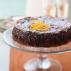 Dark Chocolate Orange Cake - Healthy Holiday Dessert Recipes - Cooking Light