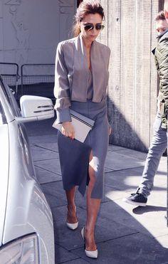 Victoria beckhams style, reminds me of kim kardashian