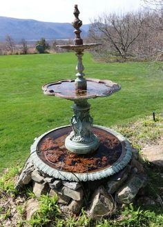 Egret Fountain Cast Iron J W Fiske Iron Works Ny