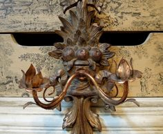 Vintage Italian Florentine Wall Sconce / by AloofNewfWhimsy, $94.00