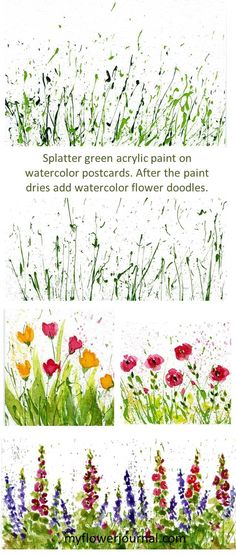This is a fun way to make cards and postcards. Find more ideas on myflowerjournal.com