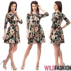Dresses With Sleeves, Facebook, Long Sleeve, Floral, Fashion, Moda, Gowns With Sleeves, Fashion Styles, Florals