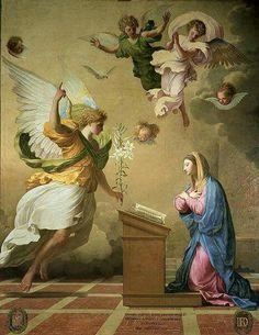 A Anunciação do anjo a Maria. <3