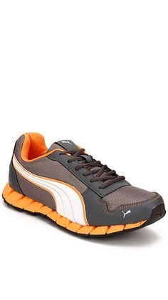 Puma Grey & Yellow Sports Shoes On LooksGud.in  #Puma, #Sportsshoes, #Gray&Yellow