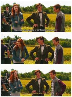 Karen Gillan, Matt Smith, and Arthur Darvill behind the scenes