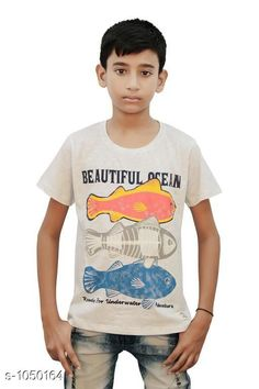 Tshirts & Polos Elegant Cotton Knitted Boy's T-shirt  *Fabric* Cotton Knitted  *Sleeves* Half Sleeves Are Included  *Size* Age Group (2 - 3 Years) - 20 in Age Group (3 - 4 Years) - 22 in Age Group (5 - 6 Years) - 24 in Age Group (7 - 8 Years) - 26 in Age Group (9 - 10 Years) - 28 in Age Group (10 - 11 Years) - 30 in Age Group (11 - 12 Years) - 32 in Age Group (12 - 13 Years) - 34 in  *Type* Stitched  *Description* It Has 1 Piece Of Boy's T-shirt  *Work* Printed  *Sizes Available* 2-3 Years, 3-4 Years, 5-6 Years, 7-8 Years, 8-9 Years, 9-10 Years, 10-11 Years, 11-12 Years, 12-13 Years *    Catalog Name: Stylo Bug Amazing Cotton Knitted Boy's T-shirts Vol 4 CatalogID_127840 C59-SC1173 Code: 091-1050164-