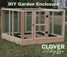 DIY Garden Enclosure detailed step by step with pictures, tools, materials