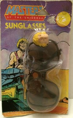 MOTU - Masters of the Universe - He-Man Sunglasses This item is NOT in Mint Condition and is in no way being described as Mint or even Near Mint. Our toys have not always lead the perfect life, nor ha