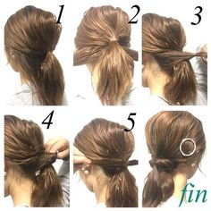 Image result for low ponytail