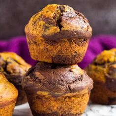 Pumpkin Chocolate Muffins – These deliciously moist pumpkin muffins are swirled with chocolate and perfectly spiced. Enjoy with your morning tea or coffee this autumn!Recipe link in my profile or here >>> https://marshasbakingaddiction.com/pumpkin-chocolate-muffins/#eeeeeats #SWEEEEEATS #instayum #instabake #feedfeed @thefeedfeed #foodblogfeed @foodblogfeed #heresmyfood @food #foodgawker #f52grams #huffposttaste #buzzfeast #thebakefeed #bakersofinstagram #yahoofood #TODAYfood #BHGfood…