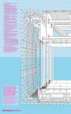 50 of the Best Facade Construction Details,Facade detail Sea Pavillion Architecture Design Concept, Detail Architecture, Architecture Drawings, Facade Design, Amazing Architecture, Interior Architecture, Chinese Architecture, Futuristic Architecture, Singapore Architecture