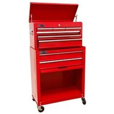 """24"""""""""""""""" Homeowners 8 Drawer Combo Tool Box - Red"""