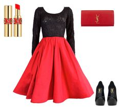 """""""Untitled #329"""" by hungergameslover7 ❤ liked on Polyvore featuring Yves Saint Laurent"""
