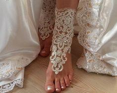 pies descalzo marco plata marfil sandalias de por BarefootShop
