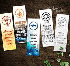 Divergent Bookmarks   Printable Set of 5 by MirkwoodScribes