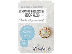 """40mm miniature embroidery hoop frame kit - 1.6"""" hoop frame set ONLY - unique Dandelyne miniature hoop by dandelyne on Etsy https://www.etsy.com/listing/206711364/40mm-miniature-embroidery-hoop-frame-kit"""