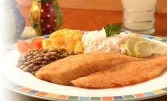 Receta de Tilapia con menestra de lenteja - PRONACA Ecuador, Meat, Chicken, Ethnic Recipes, Food, Seafood, Easy Cooking, Foods, Food Recipes