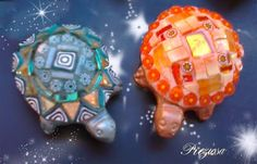 Glass Mosaic Little Turtles