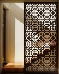 ideas metal screen design interiors for 2019 Screen Design, Door Design, Wall Design, House Design, Design Design, Facade Design, Wooden Screen, Metal Screen, Floor Screen