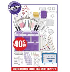 Save 40% on the Ultimate Cake Decorating Set - the most extensive collection of essential tools for every decorating need – from buttercream to fondant and gum paste. Online sale ends Saturday, July 21.