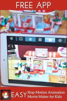 "LEGO® offers a free ""Movie Maker"" app that is excellent and easy to use so kids can create stop motion animation movies. (We've tried others that aren't so excellent so this is a well-researched statement.)..."