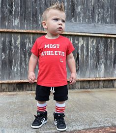 Most Athletic - Red Kids Tee Shirt