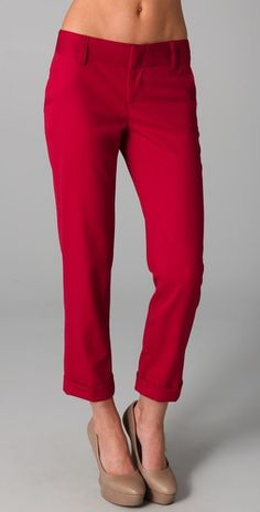time for red pants! (I'd also like to place an order for that stomach...)