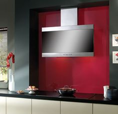 Latina Range Hood - The Latina range hood has a sleek vertical front for ample head room.  Read more: http://www.kitchen-design-ideas.org/cooker-hood-trends-for-2013.html#ixzz3C5ddSWEK