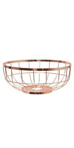 Metal Fruit Bowl Basket Copper Accessories Fruit Basket Wire