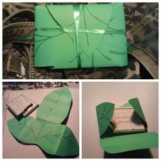 I pinner L.A, made this for The Hobbit midnight showing, but instead of lembas bread I used a candy bar. I drew the leaf freehand, but used a template found online as inspiration then tied it with green ribbon. #lotr #hobbit #party