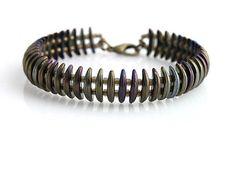 Crescent beads bracelet  kacenkag / Mesačný hnedý iris