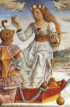COSSA, Francesco del Allegory of April: Triumph of Venus (detail) 1476-84